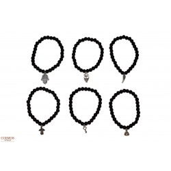 **Pulsera 6mm Obsidiana...