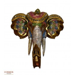 **Máscara Elefante Dorada 30cm