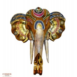 **Máscara Elefante Dorada 50cm