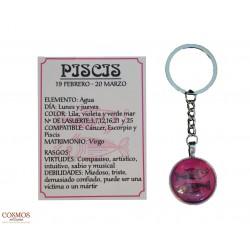 **Llavero Piscis Amuleto de...
