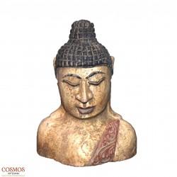 **Busto Buda envejecido 16cm