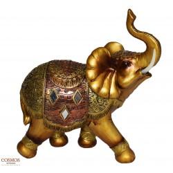 **Elefante 25cm Dorado de...
