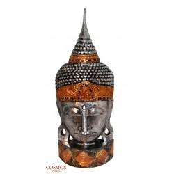 **Busto de Buda Plateado...