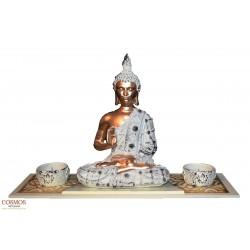 **Portavelas Buda blanco y...