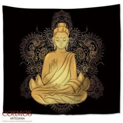 **Tapiz Buda dorado