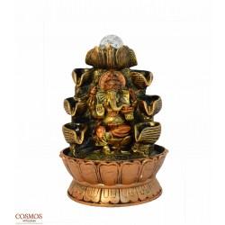 **Fuente Ganesha dorada y...