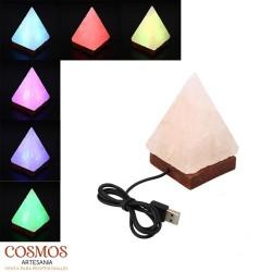 **Lámpara USB Pirámide sal...