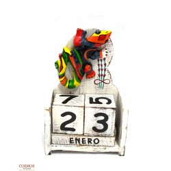 **Calendario Gecko Relieve
