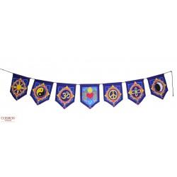 **Bandera tibetana símbolos...