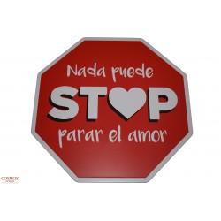 **Señal Stop Amor 30cm