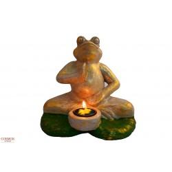 **Portavelas Rana Yoga