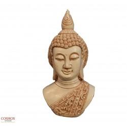 **Busto Buda blanco 26cm