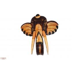 **Máscara elefante marrón 30cm