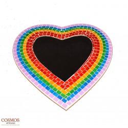 **Corazón Colores Espejo 40cm