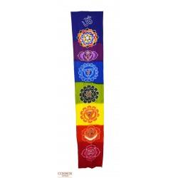 **Bandera 7 chakras  OM 180cm