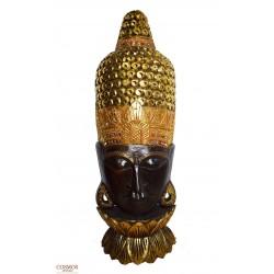 **Busto Buda Marrón Mediano 1m