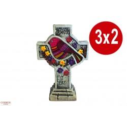 **3 x 2 Cruz Pájaro Paz y...